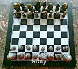 Alice In Wonderland Aluminum Chess Set From Alcoa Very Rare Limited Edition