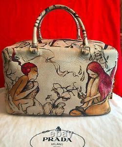 Authentic PRADA FAIRY Leather Bag Purse Hobo Handbag VERY RARE LIMITED EDITION