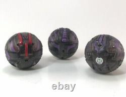 Bakugan Darkus Black Translucent Dragonoid Limited Edition Evolution Pack of 3