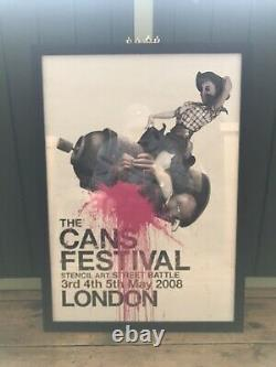 Banksy Cans Festival Very Rare Limited Edition Good Condition & Framed