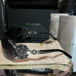 Bvlgari Sunglasses Swarovski Crystal Limited Edition 6039-B Black VERY RARE