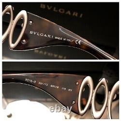 Bvlgari Sunglasses Swarovski Crystal Limited Edition 8016-B Brown VERY RARE
