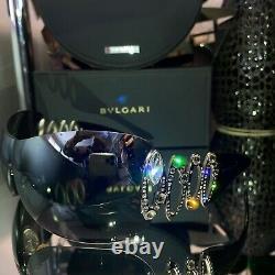 Bvlgari Sunglasses Swarovski Crystal Limited Edition Mirror 6017-B VERY RARE