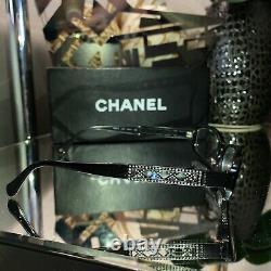 Chanel Eyeglasses 3086-B Limited Edition Swarovski Crystal Black VERY RARE