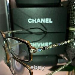 Chanel Eyeglasses 3092-B Limited Edition Swarovski Crystal Black VERY RARE