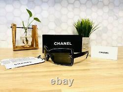 Chanel Sunglasses Limited Edition Swarovski Crystal 5065-B Black VERY RARE