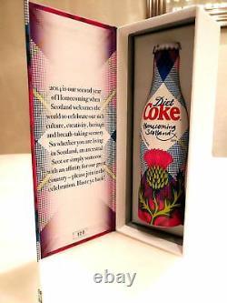 Coca Cola Aluminium Bottle Scotland Homecoming Limited Edition 129/500 Very Rare
