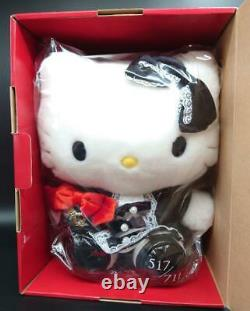 F/S Hello Kitty Plush doll Black Gothic Lolita Limited 711 Very RARE