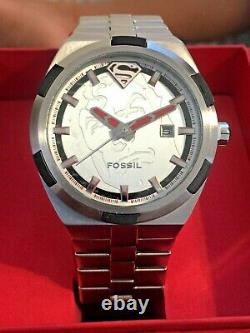 Fossil SUPERMAN Watch Urban Red LL1036 Limited Edition Very Rare Ship Free USA