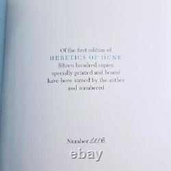 Frank Herbert Heretics of Dune Signed Numbered Limited First Edition Very Rare