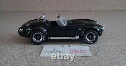 Franklin Mint 124 diecast Very Rare Black 1965 Cobra 427 S/C Limited Edition