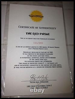 JOSH AGLE SHAG THE RED PHONE ART SERIGRAPH PRINT Limited #123/200 VERY RARE