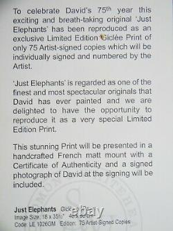 Just Elephants By David Shepherd Signed Limited Edition Very Rare