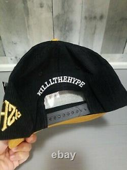 Kill The Hype LA Hat Black/tan Cord-suede KTH Brand New RARE Very Limited