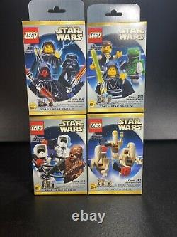 LEGO Star Wars Limited Edition Minifigs 3340 3341 3342 3343 Very Rare 2000 Sets