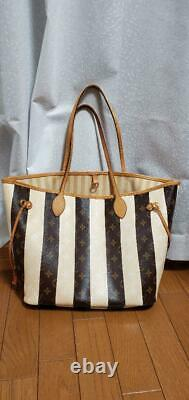 LOUIS VUITTON NEVERFULL MM RAYURE 2011 Limited Tote bag Very Rare Ladies Auth