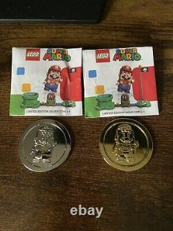 Lego Super Mario Gold And Silver Coin Limited Edition Very Rare