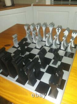 Limited Edition Aluminum Chess Set, Very Rare, 200-300 Made/Work of Art