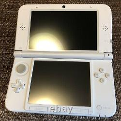 Nintendo 3DS XL Limited Model MARIO WHITE console USED Very Rare Item 0039