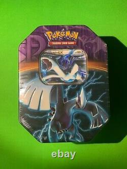 Pokemon Factory Sealed Lugia EX Team Plasma Tin With 4 Booster Packs Very Rare