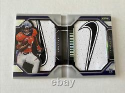 RARE Jerry Jeudy Playbook Booklet Nike Patch # /2 Very Limited