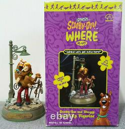 Scooby-Doo & Shaggy Light-Up Statue Limited Edition Applause 2000 Very Rare HTF
