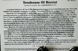 The Simpsons Animation Cel Limited Edition Treehouse Of Horror Coa Very Rare