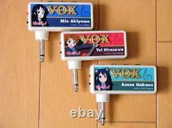 VERY RARE! JAPAN LIMITED VOX amPlug K-ON! 3 Set Mio Yui Azusa Guitar Effects Amp