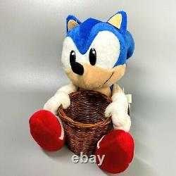 Very Rare 1996 Sonic the Hedgehog Basket Sonic Plush doll SEGA 7 limited