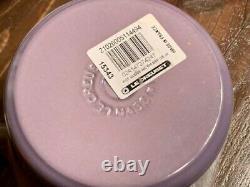 Very Rare! Le Creuset Windsor Pot Limited Blue Bell Purple Color Unused Cute