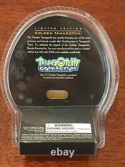 Very Rare! Limited Edition Bandai Golden Tamagotchi Brand New #1020 out of 2500