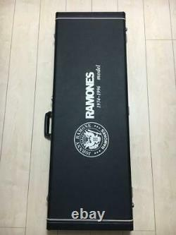 Very Rare! Mosrite Johnny Ramones Limited Model Guitar White withHardcase