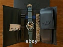 Very Rare Squale 1521 Limited Edition Blue Camo 500m with 3 straps, new condition