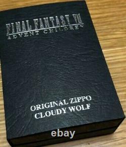 Very Rare Zippo Limited Final Fantasy 7 Cloud Wolf FF7 Lighter Japan EMS F/S