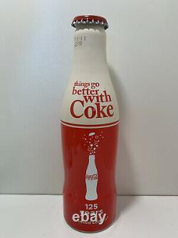 125 Years Limited Edition Très Rare Coca Cola 250ml Bouteille En Aluminium