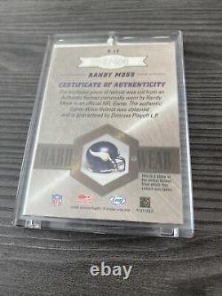2003 Leaf Limited Port Dur Randy Moss Jeu Utilisé Carte Casque 4/100 Très Rare