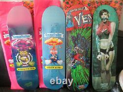 4 Nos Skateboards Decks Santa Cruz Creature Limited Edition Très Rare