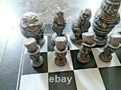 Alice Au Pays Des Merveilles En Aluminium Jeu D'échecs D'alcoa Très Rare Limited Edition