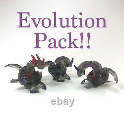 Bakugan Darkus Noir Translucide Dragonoid Edition Limitée Evolution Pack De 3
