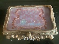 Boîte À Bijoux En Verre Teinté Disney Cendrillon Edition Limitée Very Rare 1500 Htf