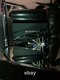 Bvlgari Frames Swarovski Crystal Edition Limitée 8031-b Noir Très Rare