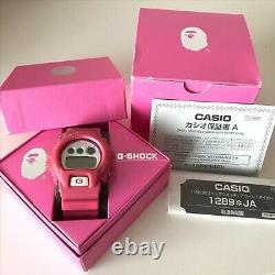 Casio G-shock A Bathing Ape 1000 Modèle Limité Dw6900 Rose Très Rare Utilisé