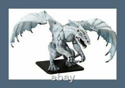 D & D Icônes Mini Le Gargantuesque Dragon Blanc Glaçage Mort (très Rare Limitée Ed!)