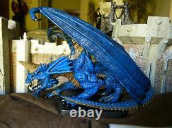 D&d Icons Mini Gargantuan Blue Dragon (très Rare Édition Limitée Et Htf!)