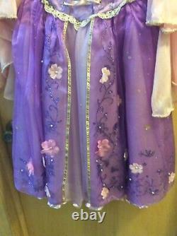 Disney Limited Edition 1 De 2000 Robe Rapunzel Tangled Taille De Costume 6 Très Rare