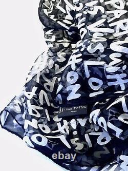 Echarpe De Soie Très Rare Louis Vuitton Graffiti Addition Limitée Par Stephen Sprouse