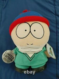 Edition Limitée Docteur Stan South Park Plush 1998 -very Rare! -avec Des Étiquettes