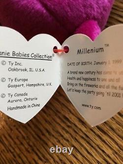 Erreurs Très Rares Ty Beanie Babies Millennium Millenium Mint Limited Tag Mwmt