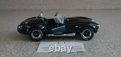 Franklin Mint 124 Diecast Très Rare Noir 1965 Cobra 427 S/c Edition Limitée