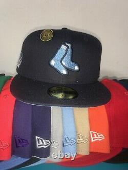 Hat Club Exclusif Red Sox Icy Uv 7 3/4 Rare! Très Limitée